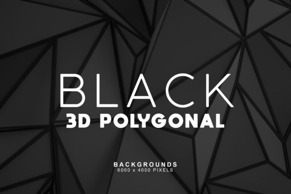Download Free Black 3d Polygonal Backgrounds Graphic By Artistmef Creative for Cricut Explore, Silhouette and other cutting machines.