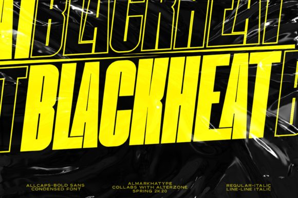 Print on Demand: Blackheat Sans Serif Font By almarkhatype
