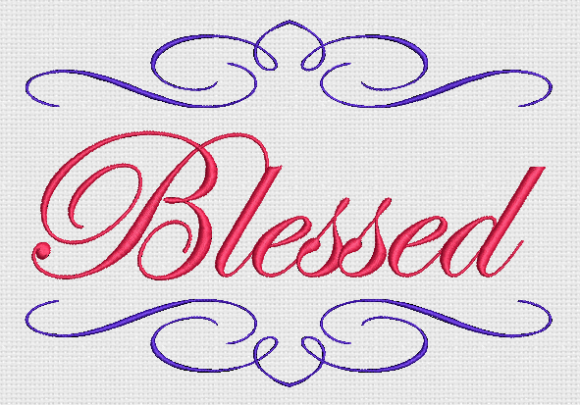 Blessed Inspirational Embroidery Design By Alpine Mastiff Designs