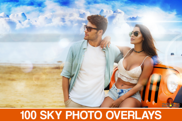 Blue Sky Overlays, Photoshop Overlay Graphic Actions & Presets By 2SUNS