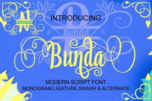 Download Free Bunda Font By Bot Kerling Creative Fabrica for Cricut Explore, Silhouette and other cutting machines.