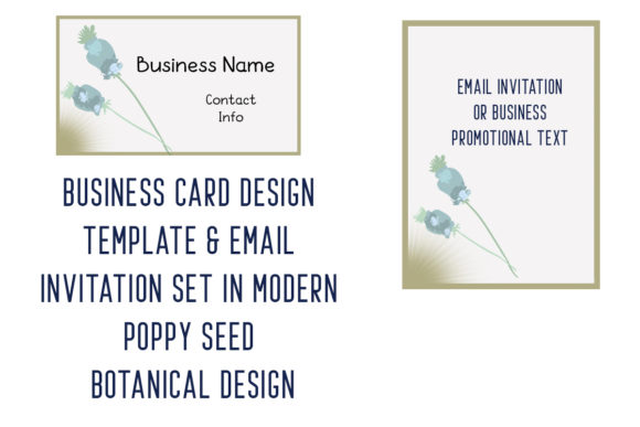 Print on Demand: Business Card Template & Email Invite Graphic Print Templates By A Design in Time