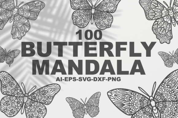Download Free Butterfly Mandalas Graphic By Bayu Baluwarta Creative Fabrica for Cricut Explore, Silhouette and other cutting machines.