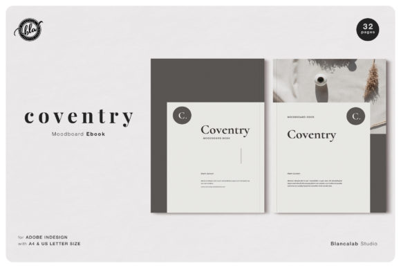 Print on Demand: Coventry Moodboard Ebook Graphic Print Templates By Blancalab Studio