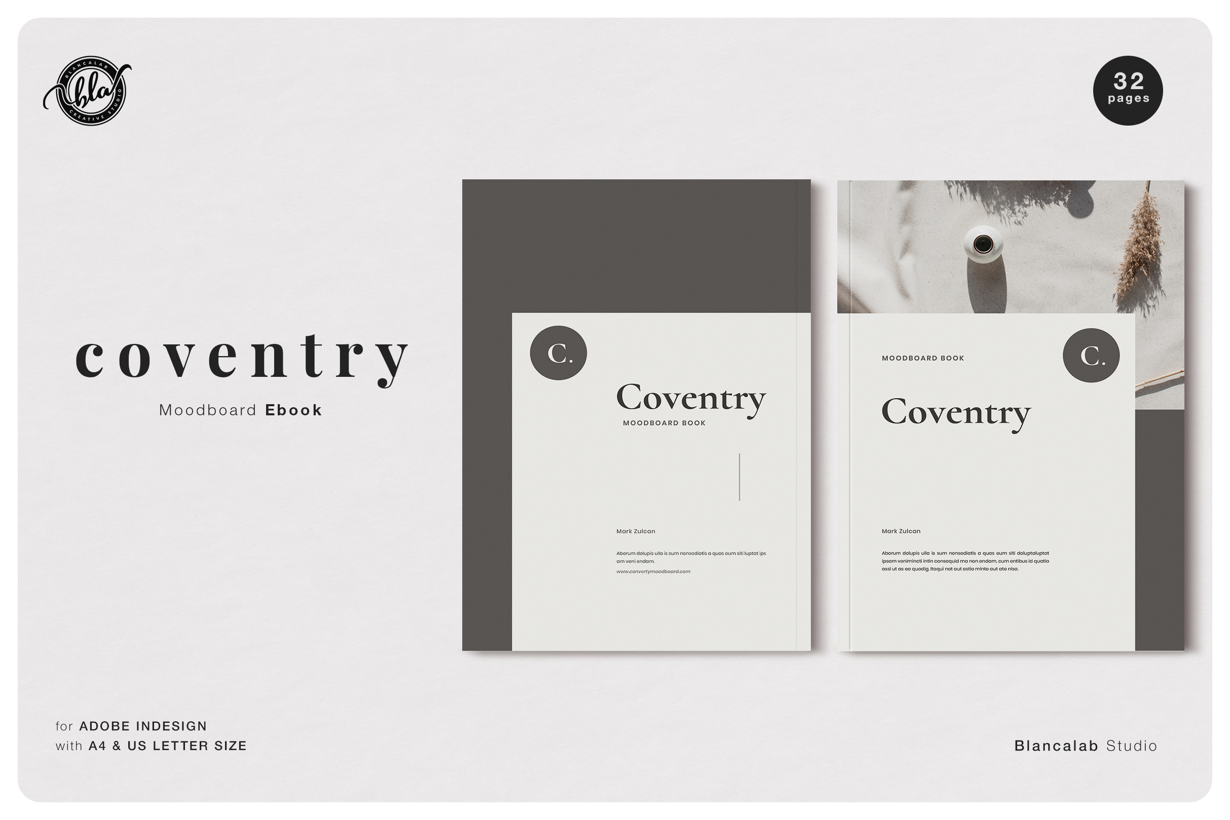 Download Free Coventry Moodboard Ebook Graphic By Blancalab Studio Creative for Cricut Explore, Silhouette and other cutting machines.