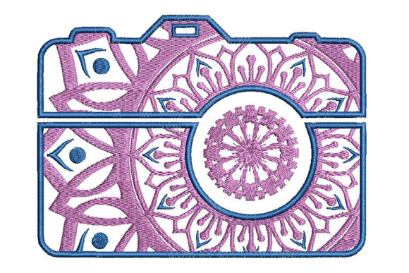 Print on Demand: Camera Mandala Style Mandala Embroidery Design By Embroidery Shelter
