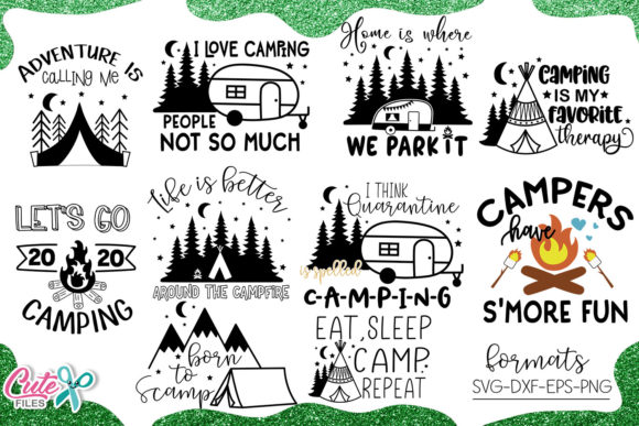 Camping Bundle 2020 File for Crafters Graphic Illustrations By Cute files