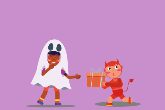 Download Free Characters Halloween Vector Illustration Graphic By Altumfatih for Cricut Explore, Silhouette and other cutting machines.