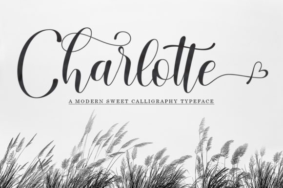 Download Free Charlotte Font By Black Studio Creative Fabrica for Cricut Explore, Silhouette and other cutting machines.