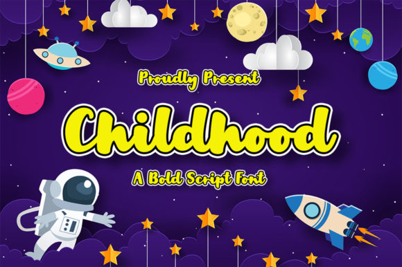 Print on Demand: Childhood Display Font By Nirmala Creative