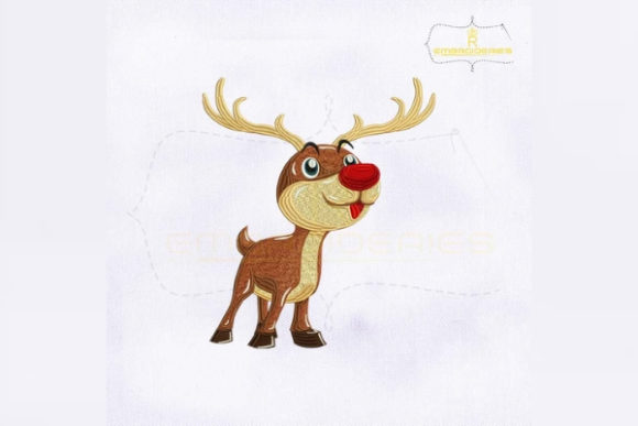 Christmas Rudolph Christmas Embroidery Design By RoyalEmbroideries