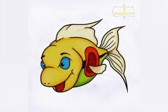 Colorful Fish Fish & Shells Embroidery Design By RoyalEmbroideries