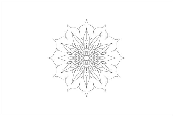 Download Free Mandala Art 0075 Graphic By Uungurukreatif Creative Fabrica for Cricut Explore, Silhouette and other cutting machines.