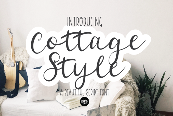 Print on Demand: Cottage Style Script & Handwritten Font By dixietypeco