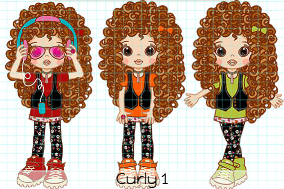 Print on Demand: Curly 1 Graphic Illustrations By Dolls To Go
