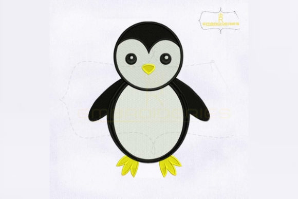 Cute Penguin Birds Embroidery Design By RoyalEmbroideries