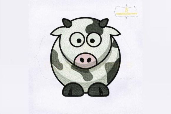 Dairy Cow Farm Animals Embroidery Design By RoyalEmbroideries