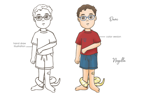 Dani & Nagella Graphic Illustrations By a2onze