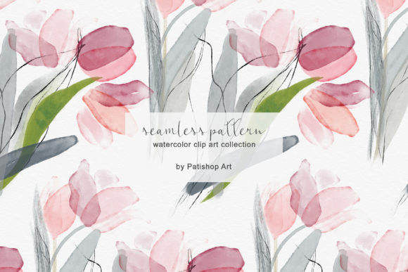 Delicate Watercolor Tulip Clipart Set Graphic Illustrations By Patishop Art - Image 5