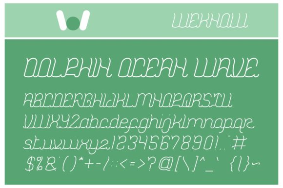 Print on Demand: Dolphin Ocean Wave Display Font By weknow