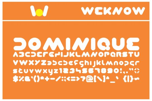 Print on Demand: Dominique Display Font By weknow