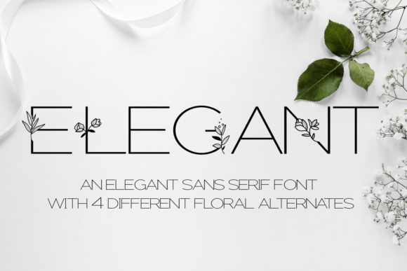Print on Demand: Elegant Decorative Font By freelingdesignhouse