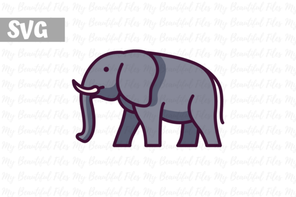 Download Free Elephant Graphic By Mybeautifulfiles Creative Fabrica for Cricut Explore, Silhouette and other cutting machines.