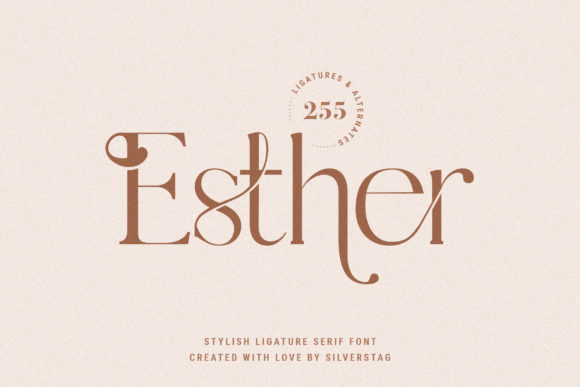 Download Free Esther Font By Silverstag Creative Fabrica for Cricut Explore, Silhouette and other cutting machines.