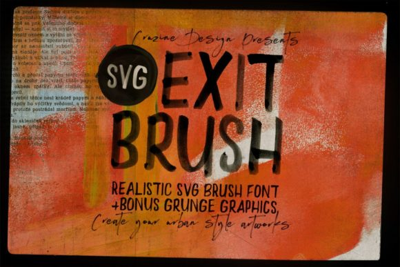 Download Free Exit Brush Font By Jumbodesign Creative Fabrica for Cricut Explore, Silhouette and other cutting machines.