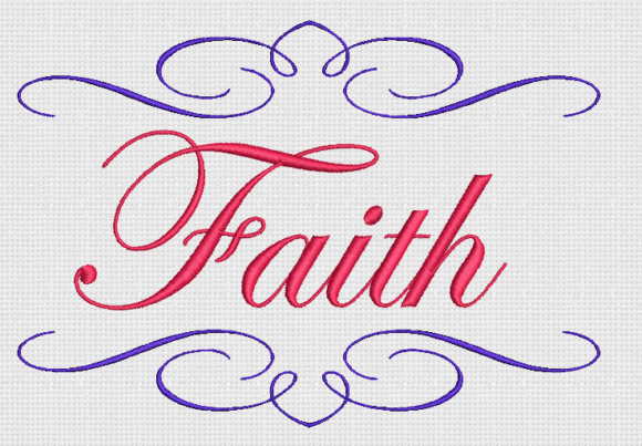 Faith Awareness & Inspiration Embroidery Design By Alpine Mastiff Designs