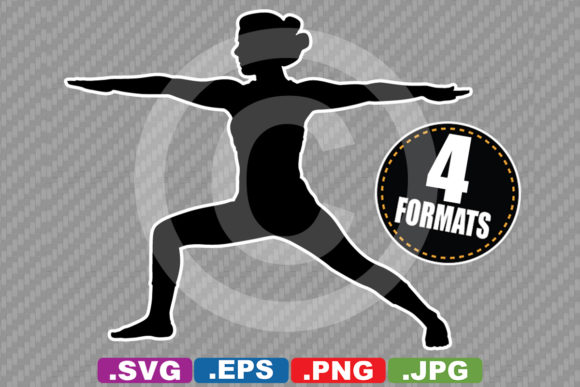 Download Free Female Yoga Pose Silhouette Graphic By Idrawsilhouettes for Cricut Explore, Silhouette and other cutting machines.