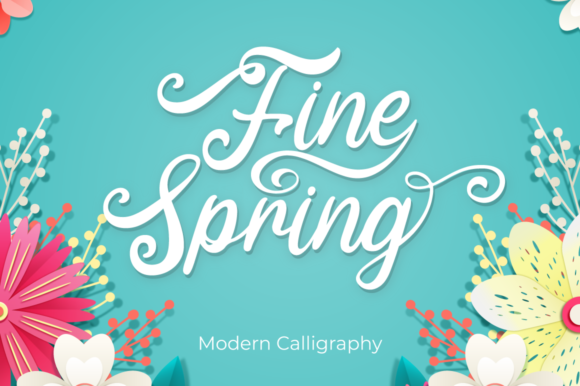 Print on Demand: Fine Spring Script & Handwritten Font By attypestudio