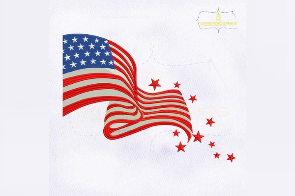 Download Free Fourth Of July American Flag Creative Fabrica for Cricut Explore, Silhouette and other cutting machines.