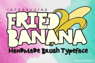 Print on Demand: Fried Banana Display Font By cornertypestudio