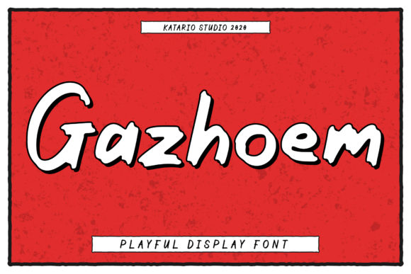Print on Demand: Gazhoem Display Font By Katario Studio