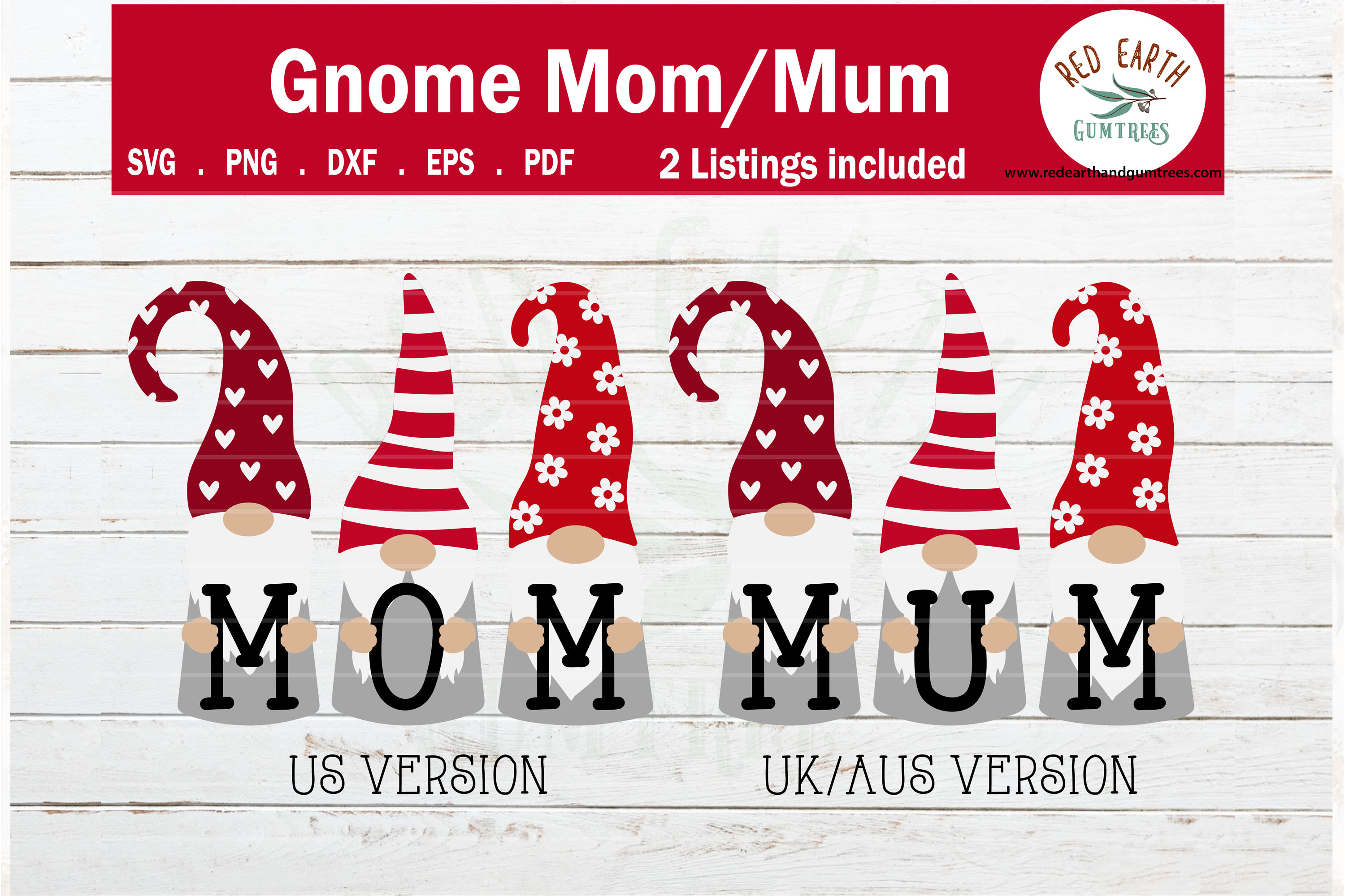 Download Free Gnome Mom Gnome Mum Mother S Day Graphic By Redearth And for Cricut Explore, Silhouette and other cutting machines.