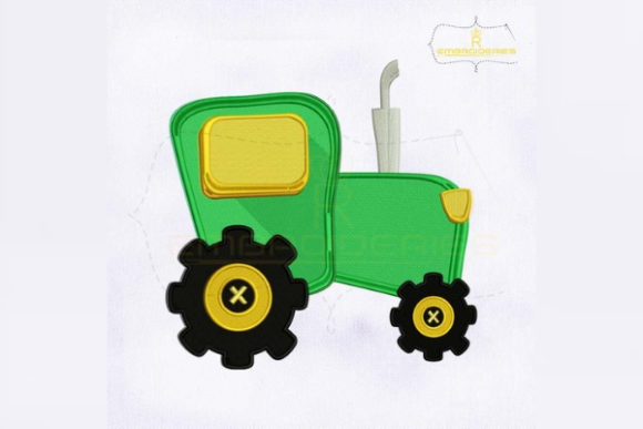 Green Tractor Farm & Country Embroidery Design By RoyalEmbroideries