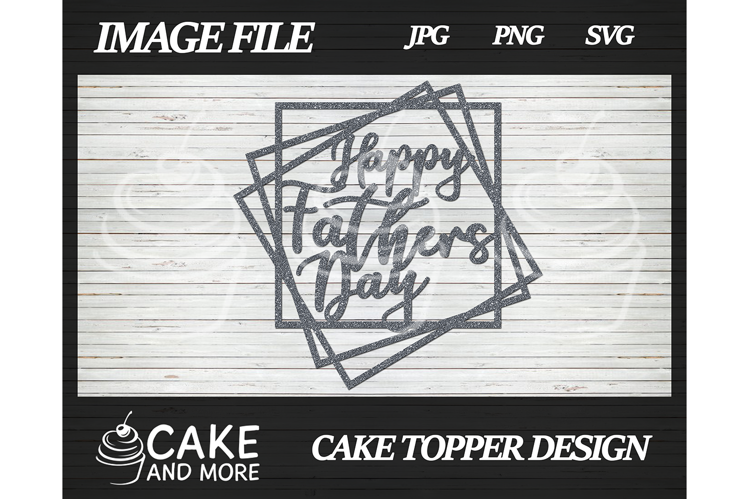 Download Free Happy Father S Day Cake Topper Graphic By Lookitzcake Creative for Cricut Explore, Silhouette and other cutting machines.