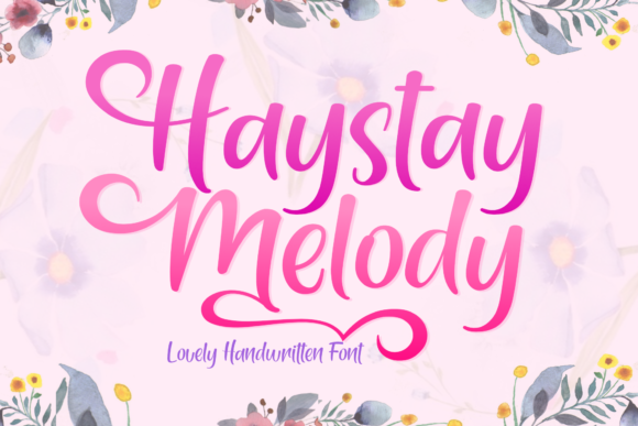 Print on Demand: Haystay Melody Manuscrita Fuente Por Holydie Studio