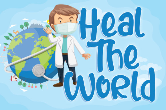 Print on Demand: Heal the World Display Font By thomasaradea
