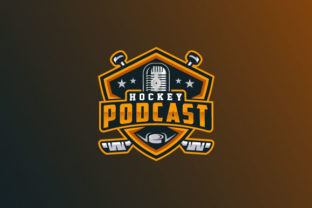 Download Free Hockey Podcast Logo Design Graphic By Burhan Bn006 Creative for Cricut Explore, Silhouette and other cutting machines.
