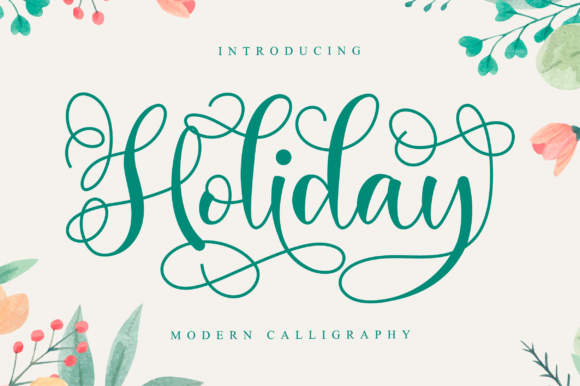 Print on Demand: Holiday Script & Handwritten Font By NissaStudio