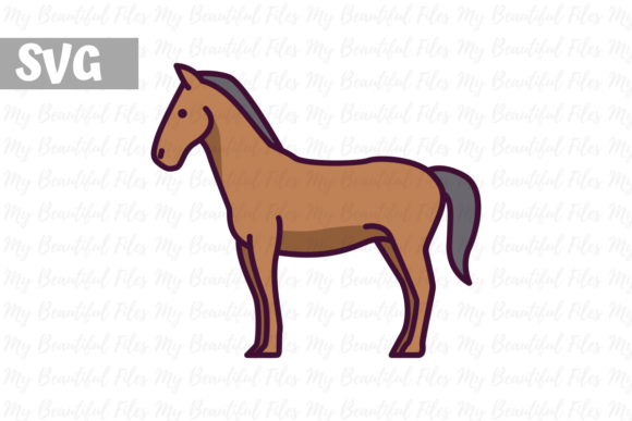 Download Free Horse Graphic By Mybeautifulfiles Creative Fabrica for Cricut Explore, Silhouette and other cutting machines.