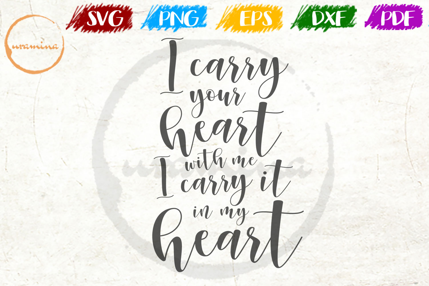 Download Free I Carry Your Heart With Me Graphic By Uramina Creative Fabrica for Cricut Explore, Silhouette and other cutting machines.