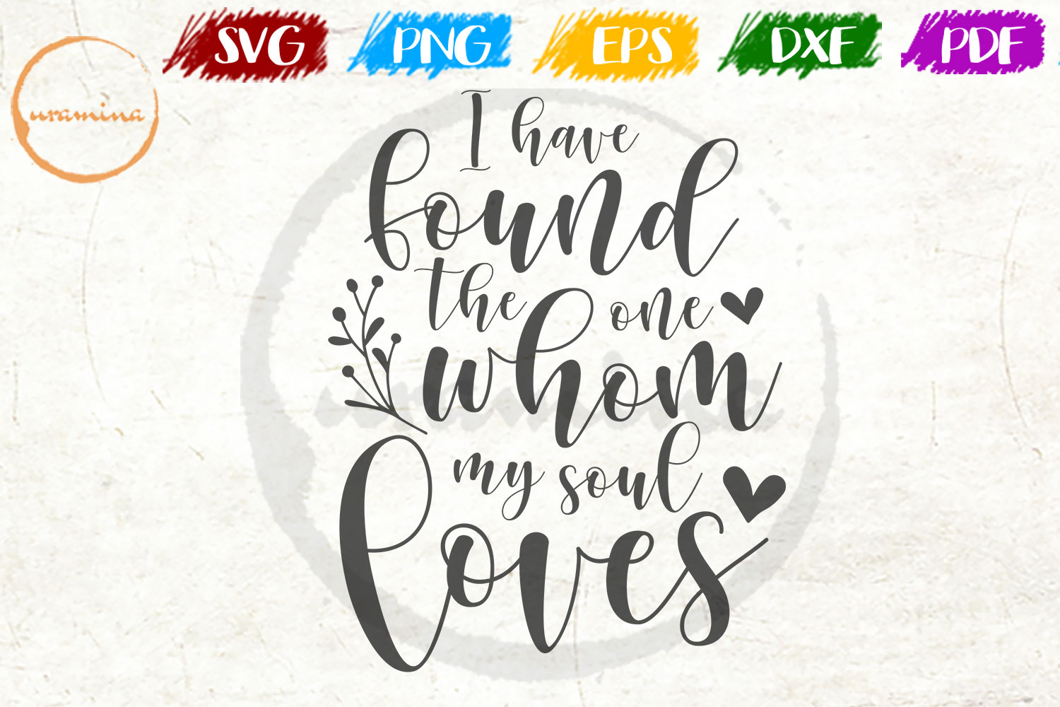 Download Free I Found The One Whom My Soul Loves Graphic By Uramina Creative for Cricut Explore, Silhouette and other cutting machines.