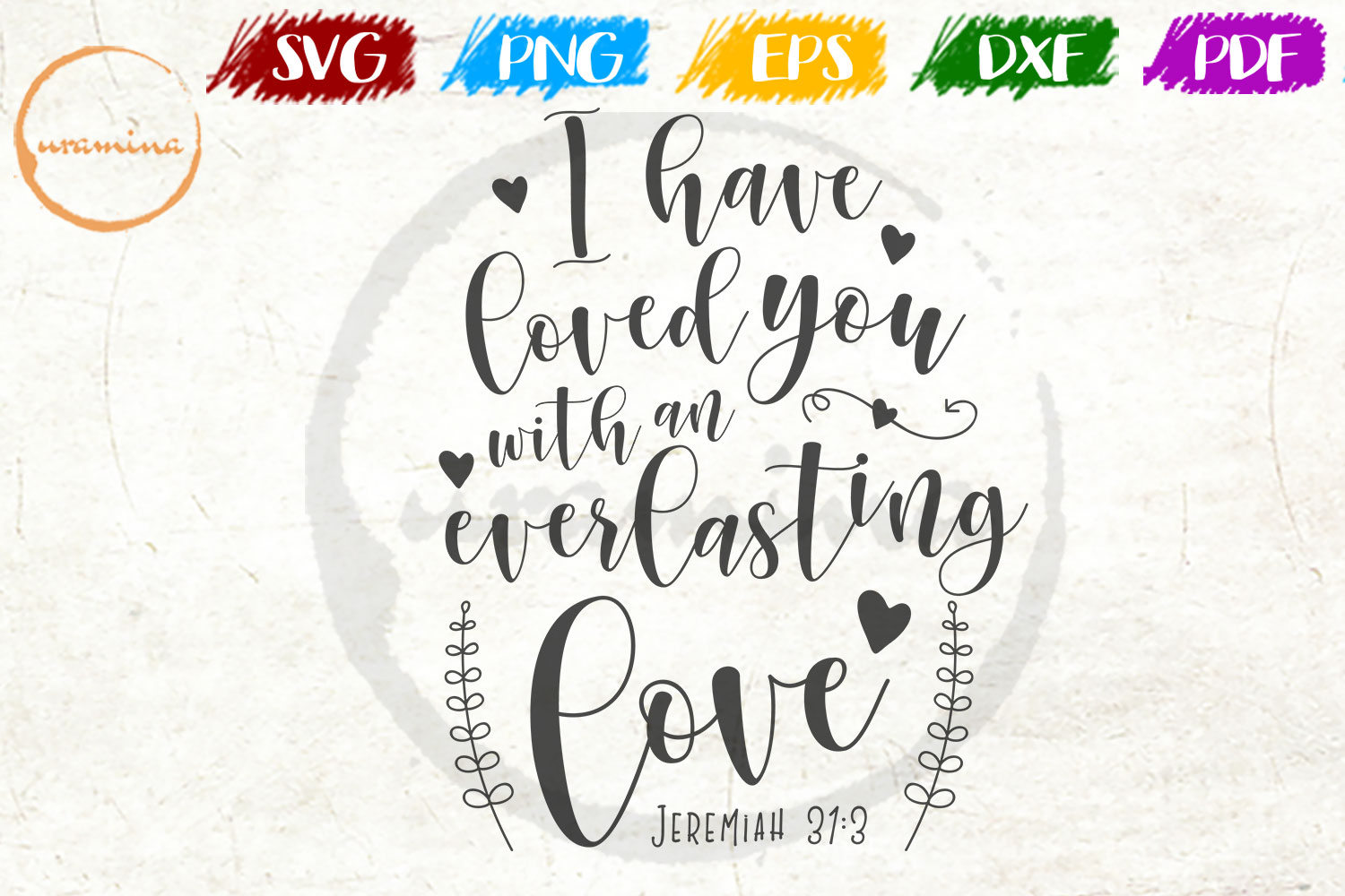 Download Free I Have Loved You Grafik Von Uramina Creative Fabrica for Cricut Explore, Silhouette and other cutting machines.