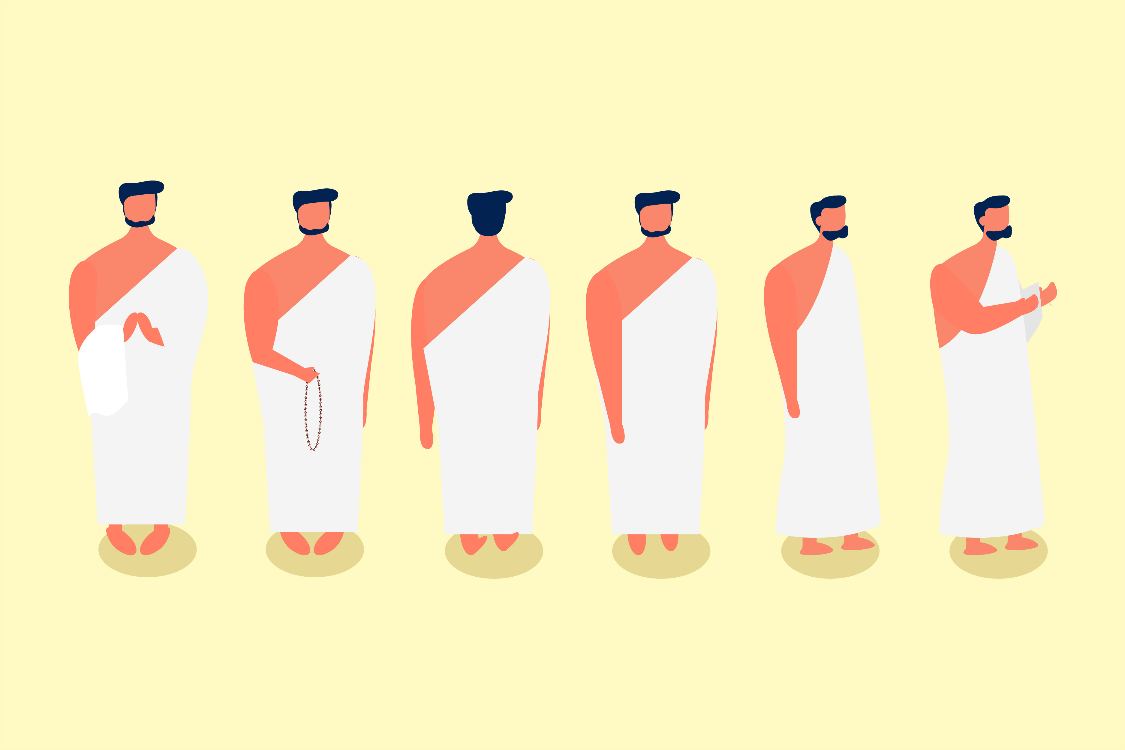 Download Free Illustration Hajj Muslim Man Pilgrim Graphic By Griyolabs for Cricut Explore, Silhouette and other cutting machines.