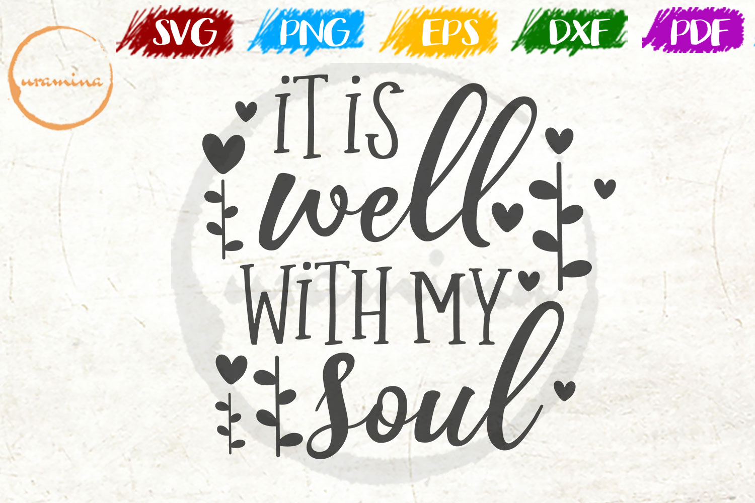 Download Free It Is Well With My Soul Graphic By Uramina Creative Fabrica for Cricut Explore, Silhouette and other cutting machines.