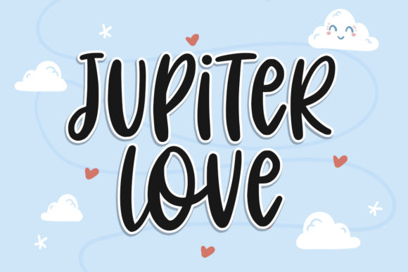Print on Demand: Jupiter Love Script & Handwritten Font By Typefar