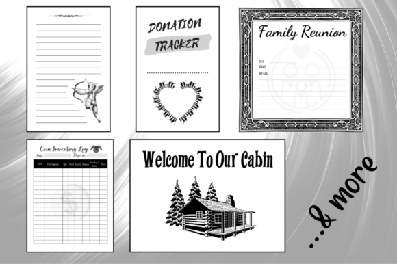 Download Free Kdp Bundle Pack 75 Templates Interiors Graphic By Hungry Puppy for Cricut Explore, Silhouette and other cutting machines.